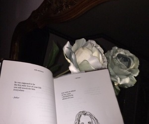aesthetic, book, and reading image