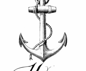 hope, anchor, and tattoo image
