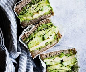 avocado, sandwich, and green image