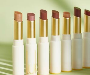 beauty, lip gloss, and lipstick image