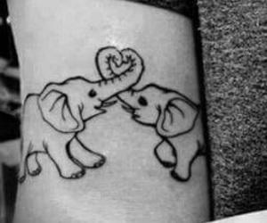 tattoo, love, and elephant image