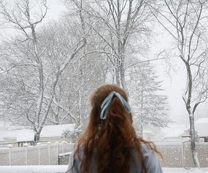 snow, winter, and hair image