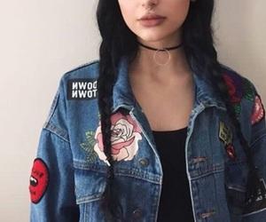 dark, hair, and lip image