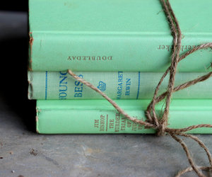 books, mint, and mint green image