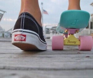 board, penny, and vans image