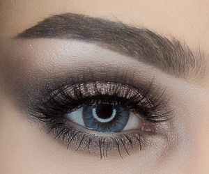 eyes, silver, and eyeshadow image
