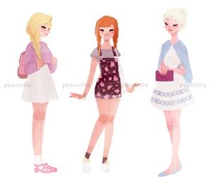 anna, rapunzel, and disney image