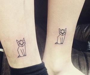 cat, geometric, and tatto image