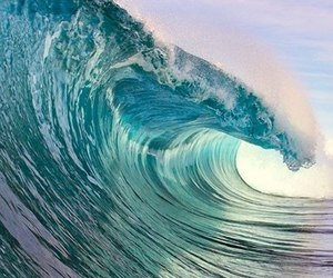 sea, water, and wave image