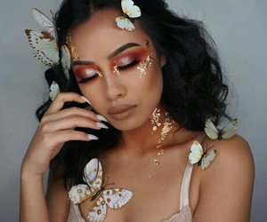 Halloween, makeup, and butterfly image