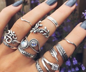 jewellery, rings, and hand image