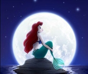 ariel, mermaid, and sea image