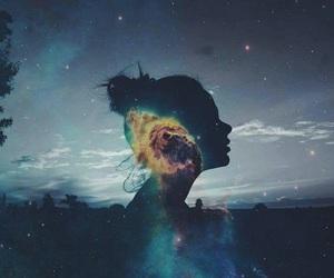 galaxy, sky, and art image
