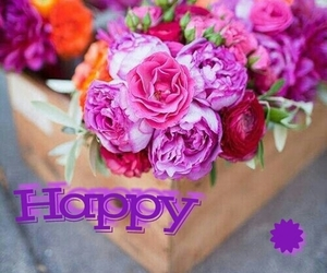 flowers, pink, and happybirthday image