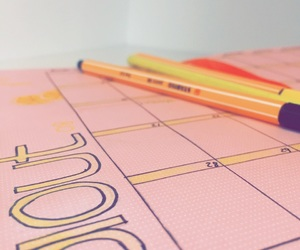 agenda, August, and decoration image