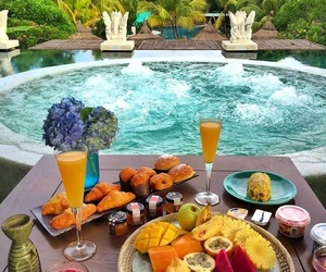 food, breakfast, and relax image