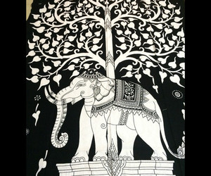 birthday gift, beach towel, and elephant tapestry image