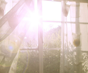 window, sun, and light image