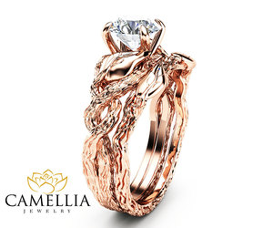 etsy, engagementrings, and camellia jewelry image