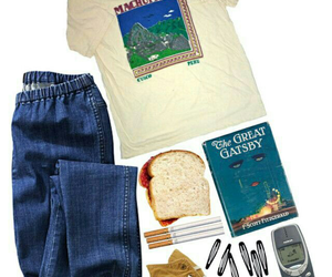 book, bread, and cool image