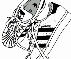 adidas, outline, and superstar image