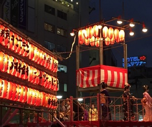 festival, japan, and red image