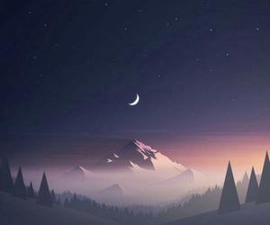 wallpaper, night, and moon image
