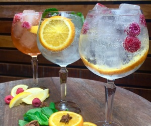 alcohol, Cocktails, and garnish image