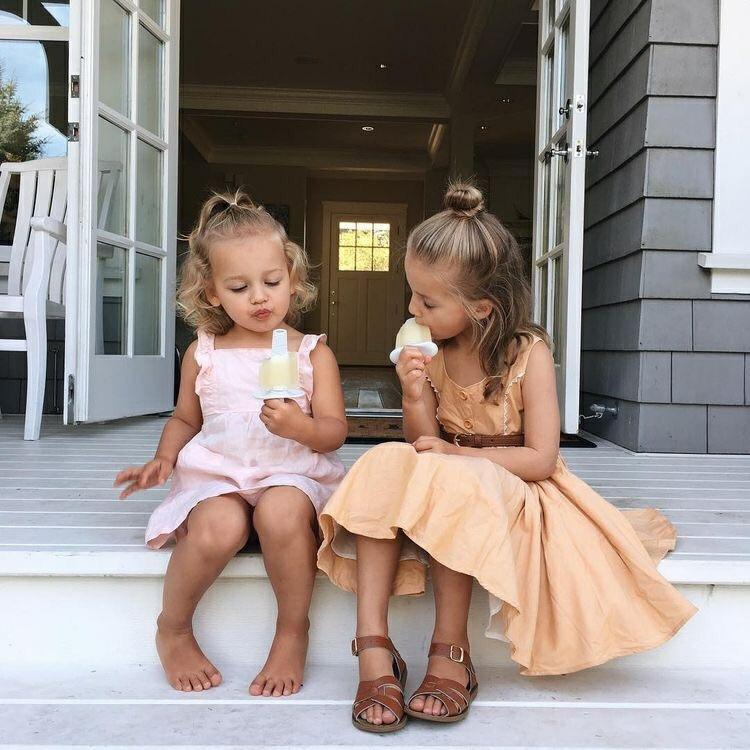 kids, girls, and ice cream image