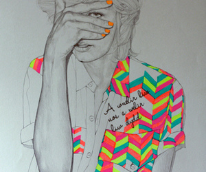 neon, art, and draw image