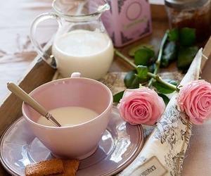 flowers, breakfast, and food image
