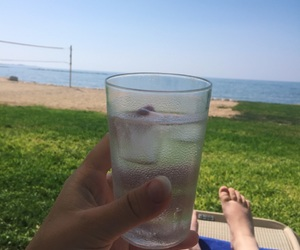 beach, cyprus, and drink image