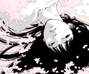 girl, anime, and pink image