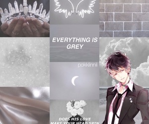 aesthetic, Collage, and grey image