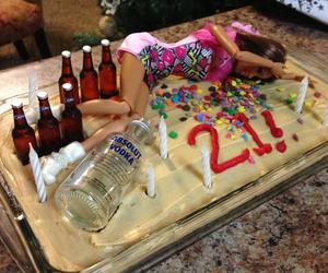 barbie, cake, and 21 image