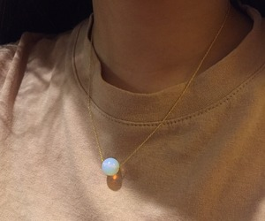 necklace, aesthetic, and beige image