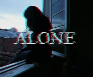 alone, sad, and black image