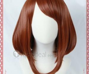 anime cosplay wig, brown cosplay wig, and ochako uraraka wig image
