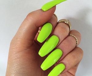 green neon nails image