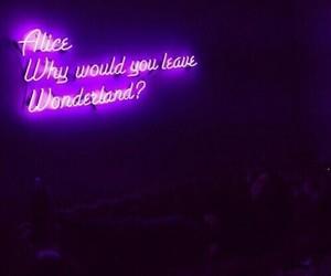 purple, wonderland, and alice image