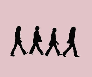 abbey road, pink, and the beatles image