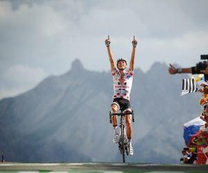 champion, cyclist, and polka dot image