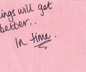 quotes, pink, and time image