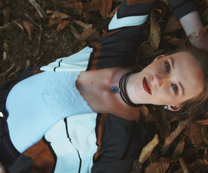 beauty, face, and fall image
