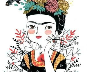 draw, frida kahlo, and illustration image
