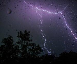 rain, grunge, and lightning image
