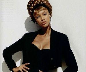 model, tyra banks, and 90s image