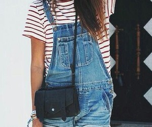 hat, overalls, and nice image