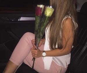 flowers, night, and paris image
