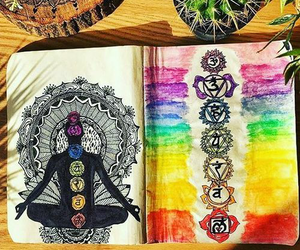 hippie, peace, and yoga image